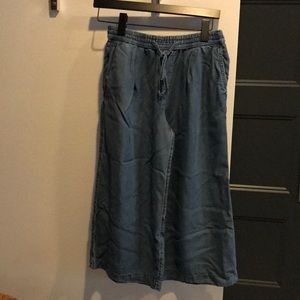 GAP Tencel Wide Leg Crop Pants XS